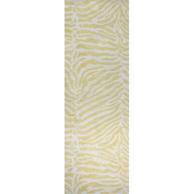 Greenview Hand-Tufted Gold Area Rug Rug Size: Runner 26 x 8