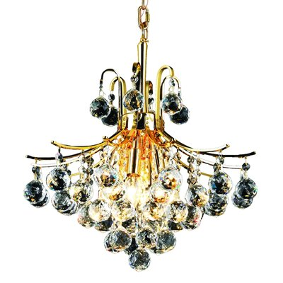 McAllen 6-Light Crystal Chandelier Finish: Gold, Crystal Trim: Strass Swarovski