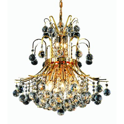 McAllen 10-Light Crystal Chandelier Finish: Gold, Crystal Trim: Royal Cut