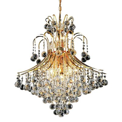 McAllen 15-Light Crystal Chandelier Finish: Gold, Crystal Trim: Elegant Cut