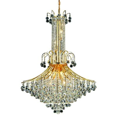 McAllen 16-Light Crystal Chandelier Finish: Gold, Crystal Trim: Spectra Swarovski