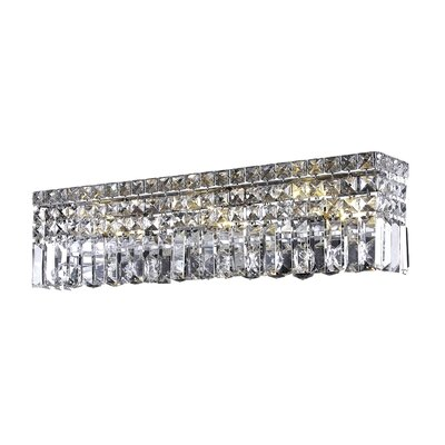 Bratton 4-Light Wall Sconce Crystal Grade: Strass Swarovski, Crystal Color: Crystal Clear