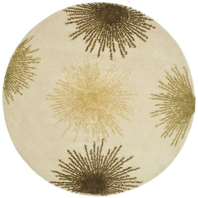 Germain Beige Area Rug Rug Size: Runner 26 x 14
