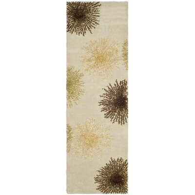 Germain Beige Area Rug Rug Size: Runner 26 x 8