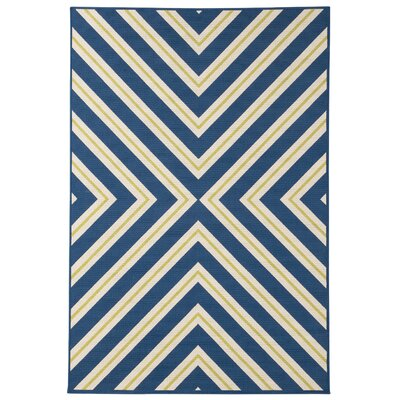 Boothbay Navy/Cream Indoor/Outdoor Area Rug Rug Size: 53 x 76