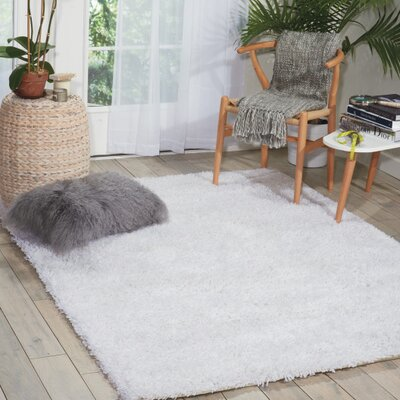 Sky Hand-Tufted White Area Rug Rug Size: 5 x 7