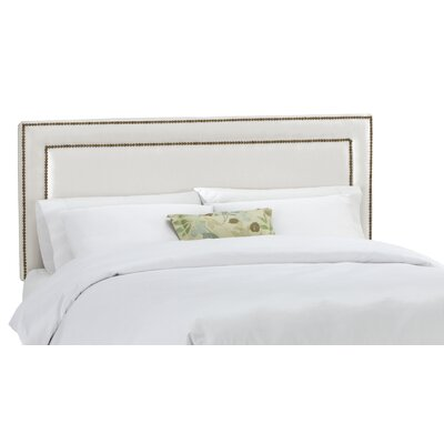 Doleman Border Panel Headboard Size: Twin, Upholstery Type: Cotton / Polyester, Upholstery Color: Silver