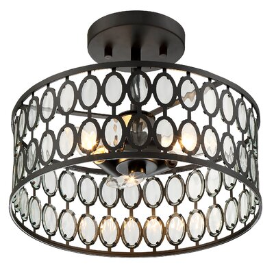 Bourdon 3-Light Semi Flush Mount