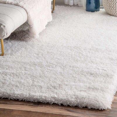 Celsian White Area Rug Rug Size: 33 x 5