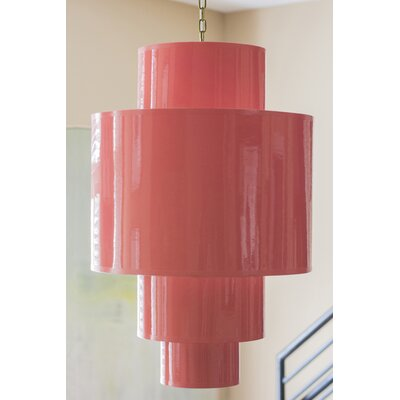 Shoalhaven Drum Pendant Shade Color: Coral
