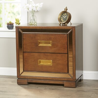 Frederic 2 Drawer Nightstand