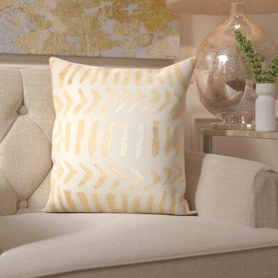 Bonnert Throw Pillow Color: Ivory/Gold