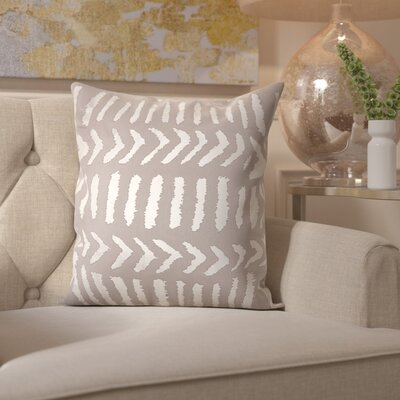 Bonnert Throw Pillow Color: Silver/Gray