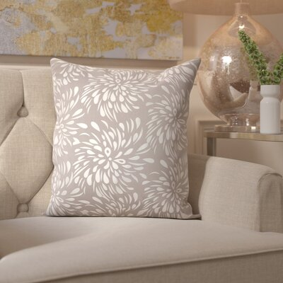 Sharonda Square Throw Pillow Color: Silver/Gray