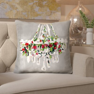 Christmas Chandellier Throw Pillow