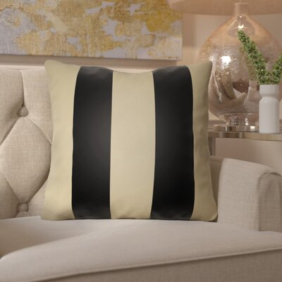 Georgio Indoor/Outdoor Throw Pillow Size: 20 H x 20 W x 4 D, Color: Black