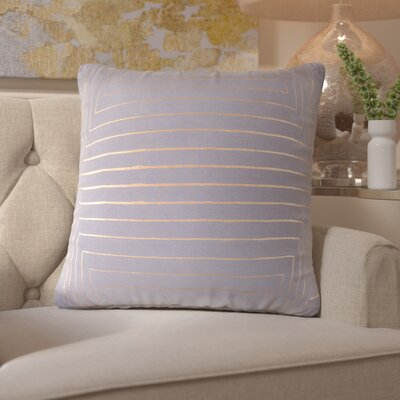 Caressa Cotton Throw Pillow Size: 20 H x 20 W x 4 D, Color: Gray/Yellow
