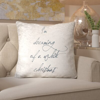White Christmas Throw Pillow