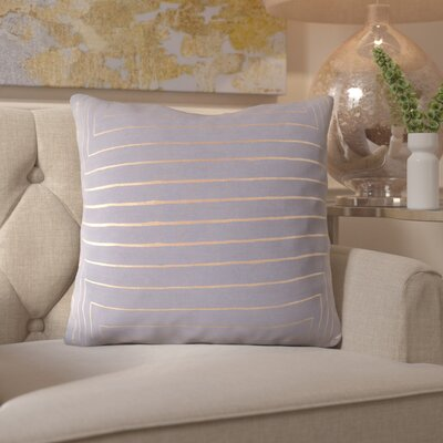 Caressa Throw Pillow Size: 22 H x 22 W x 4 D, Color: Gray/Yellow