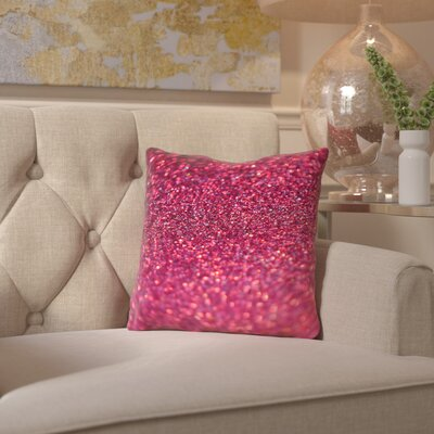 Coalville Sparkley Shiny Glamour Throw Pillow Size: 18 H x 18 W x 2 D