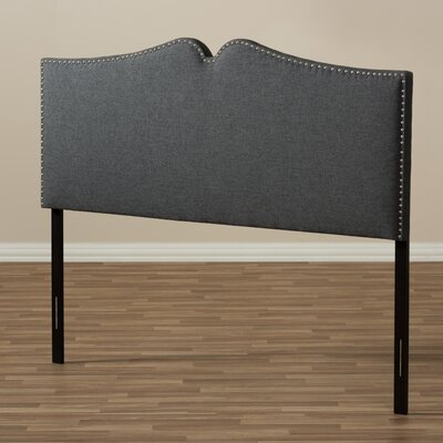 Ruhland Upholstered Panel Headboard Size: King, Upholstery: Dark Gray