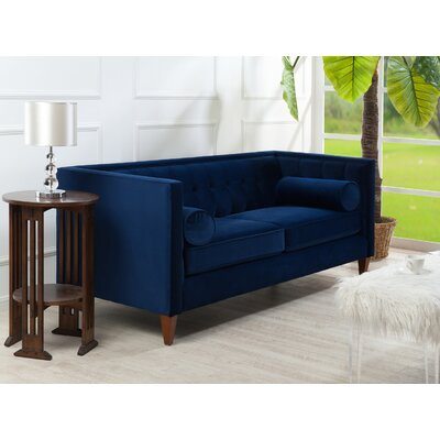 Hightower Tufted Sofa in Navy