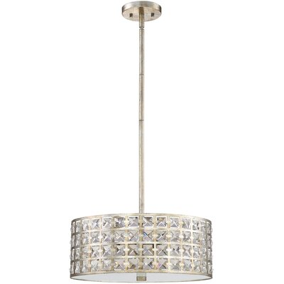 Dowe 4-Light Drum Pendant Finish: Vintage Gold