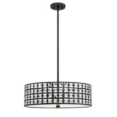 Dowe 5-Light Drum Pendant Finish: Imperial Bronze