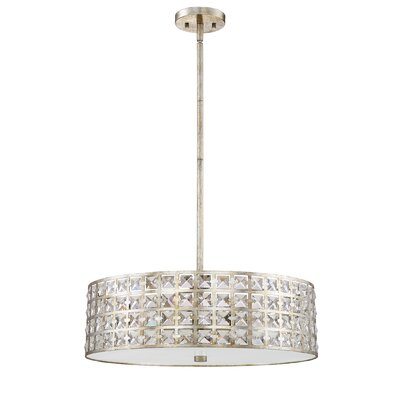 Dowe 5-Light Drum Pendant Finish: Vintage Gold