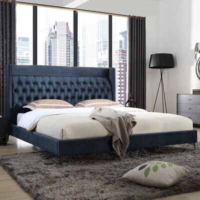 Sutton Upholstered Platform Bed Size: Queen