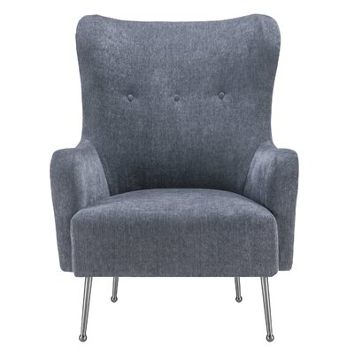 Burke Wingback Chair Upholstery: Gray