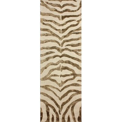 Dodgson Hand-Tufted Brown/Ivory Area Rug Rug Size: Runner 23 x 8