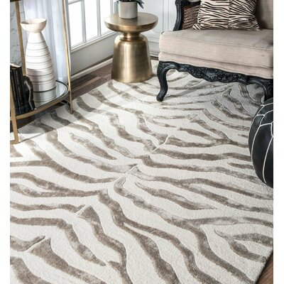 Dodgson Hand-Tufted Gray/Ivory Area Rug Rug Size: Runner 26 x 8