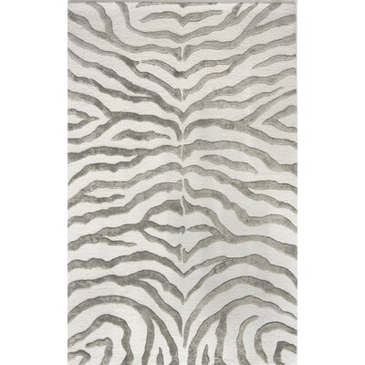 Dodgson Hand-Tufted Gray/Ivory Area Rug Rug Size: Rectangle 86 x 116