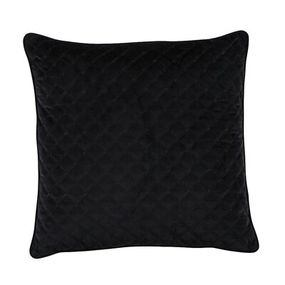 Bellinger Velvet Throw Pillow Color: Black