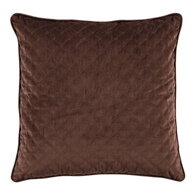Bellinger Velvet Throw Pillow Color: Brown