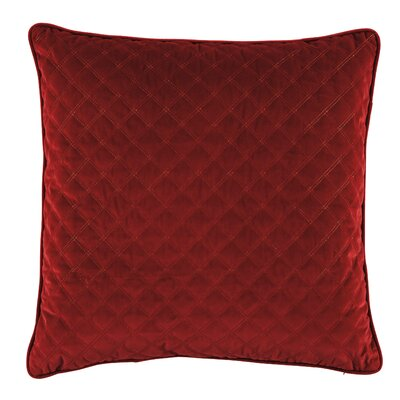 Bellinger Velvet Throw Pillow Color: Red