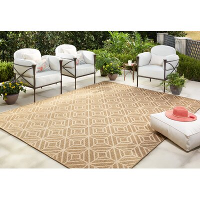 Dowler Natural Indoor/Outdoor Area Rug Rug Size: 53 x 76