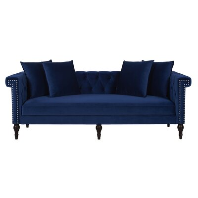 Jaelyn Chesterfield Sofa Upholstery: Navy Blue