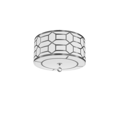 Francene 4-Light Flush Mount Finish: Silver
