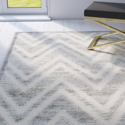 Gabbro Gray Area Rug Rug Size: Rectangle 27 x 4