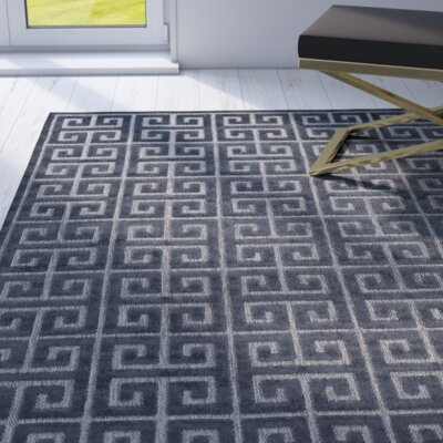 Emerson Black/Charcoal Indoor/Outdoor Area Rug Rug Size: Rectangle 5 x 76