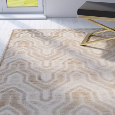 Gabbro Caramel / Cream Area Rug Rug Size: Rectangle 4' x 5'7