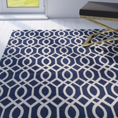 Holsworthy Navy / Ivory Rug Rug Size: Rectangle 4 x 6