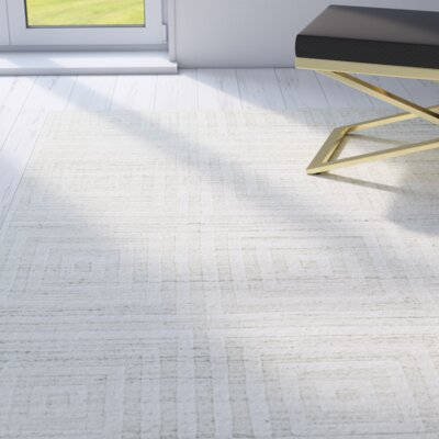 KingS Lynn Hand Woven Cream Area Rug Rug Size: Rectangle 79 x 99