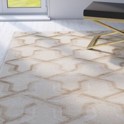 Maspeth Beige Area Rug Rug Size: Rectangle 27 x 4