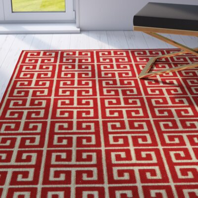 Glenoe Tan/Red Indoor/Outdoor Area Rug Rug Size: Rectangle 21 x 4