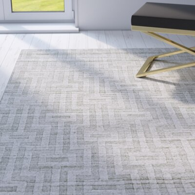 Damiane Hand Woven Fog Area Rug Rug Size: Rectangle 86 x 116