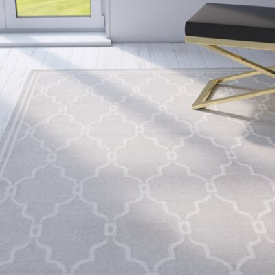 Maritza Light Gray/Ivory Indoor/Outdoor Area Rug Rug Size: Rectangle 6 x 9
