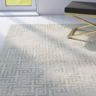 Langley Ice Area Rug Rug Size: 32 x 54
